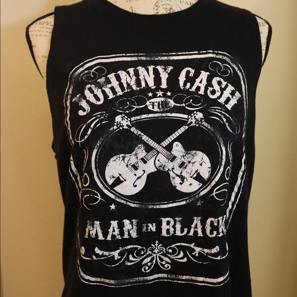 fe68fdb5da4d98 Johnny cash man in black tank top size xl women. M 5c05ad8034a4ef698eadd35f